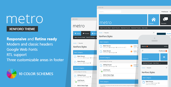 Metro — XenForo Responsive & Retina Ready Theme Chance Ovid