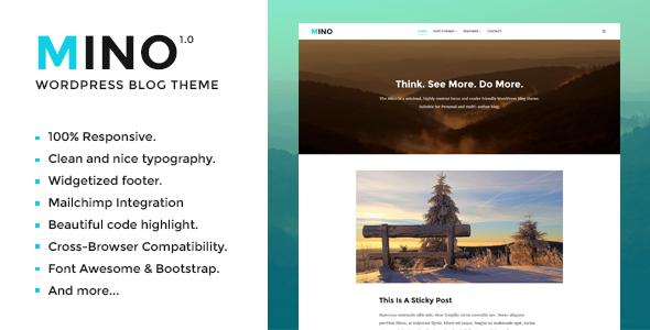 Mino Blog - Content Focused WordPress Blog Theme Nori Bambang