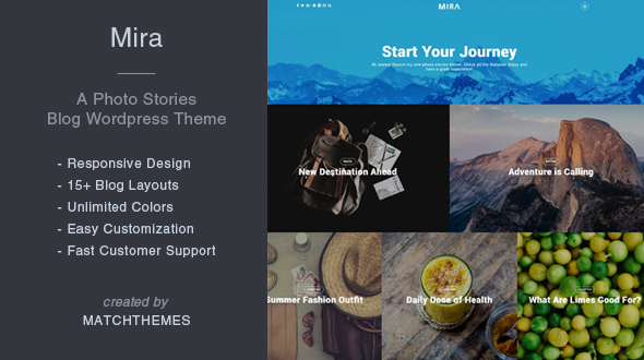 Mira - A Photo Stories Blog Wordpress Theme Osmond Zachariah