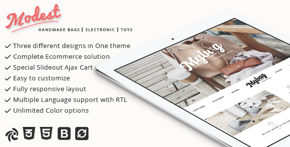 Modest - Multipurpose and Responsive Zencart Theme Gladwyn Casimir