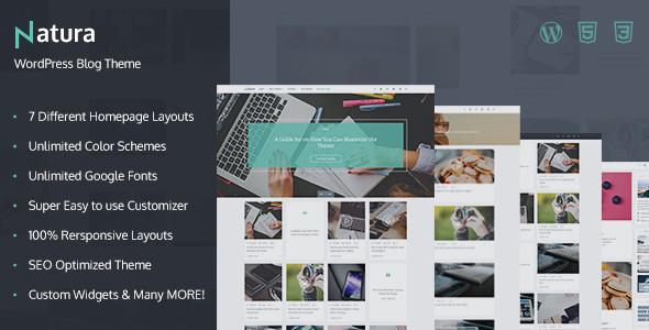 Natura - Responsive WordPress Blog Theme Placid Alexis