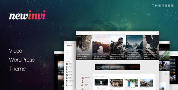 Newinvi - A Video Magazine WordPress Theme Tiriaq Darien