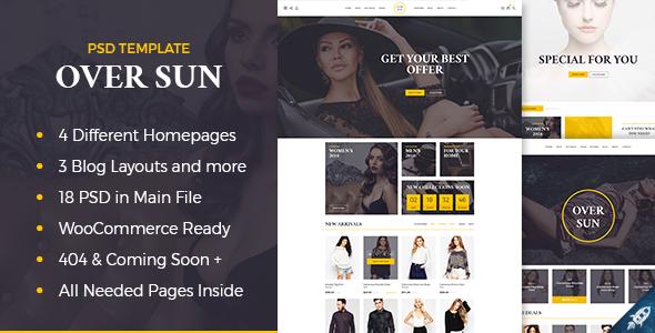 Over Sun - Multipurpose eCommerce PSD Template Tully Haig