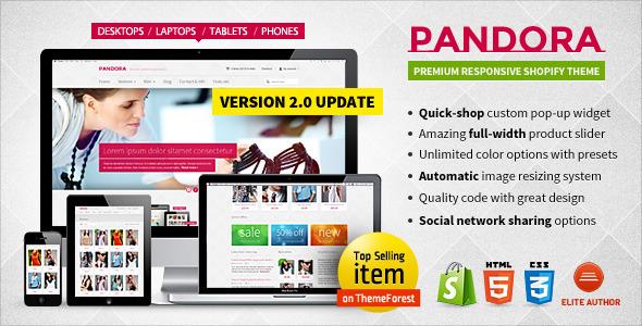 Pandora — Responsive Shopify HTML5 Theme Dane Cody
