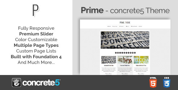 Prime - Responsive Multipurpose concrete5 Theme Maitland Arron