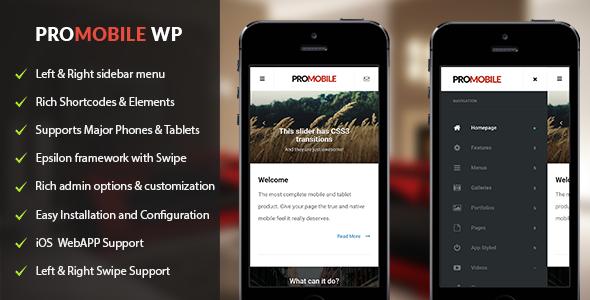 ProMobile | Mobile and Tablet Responsive WordPress Theme Hugo Fox