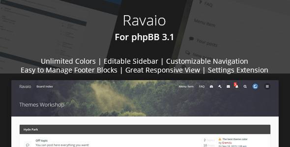Ravaio - Modern Responsive phpBB Forum Theme Minato Ujarak