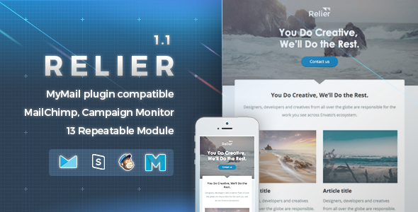 Relier | Responsive Email Template EmailTemplates Britton Giles