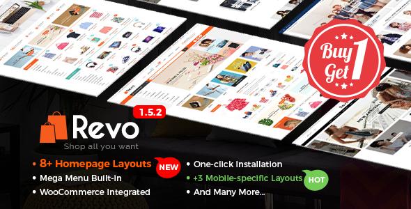Revo - Multi-Purpose Responsive WooCommerce Theme with Mobile-Specific Layouts Ambrose Cornelius