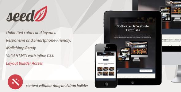 SeedV2 Responsive Email Template & Layout Builder Benji Brent