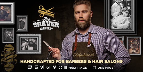 Shaver - Barbers & Hair Salon WordPress Theme Neville Freddy