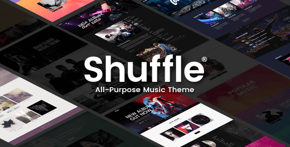 Shuffle - All-Purpose Music Theme with Genre-specific Skins & Homepages Herbie Mortimer