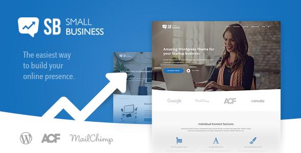 Small Business CD - A modern Blog & Website WordPress Theme for Start Up ideas Beckett Lonnie