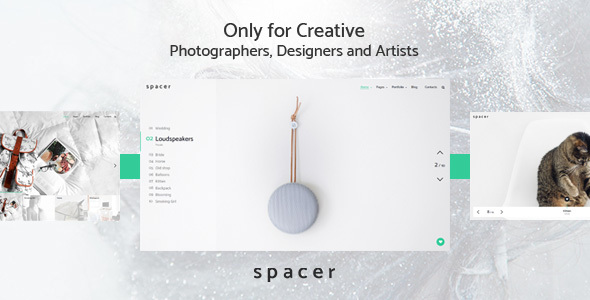 Spacer - Photography Portfolio WordPress Theme Delbert Sonnie