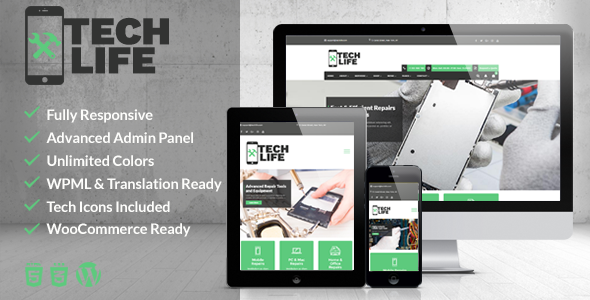 TechLife - Mobile, Tech & Electronics Repair Shop WordPress Theme Keefe Phoenix