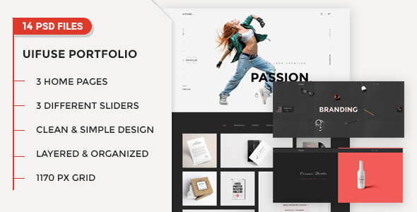 UiFuse - Creative PSD Template PSDTemplates Winfred Joby