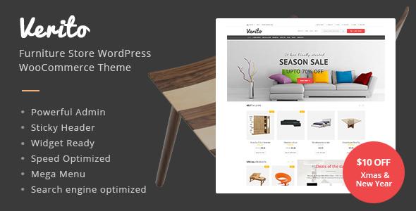 Verito - Furniture Store WordPress WooCommerce Theme Katsurou Winton
