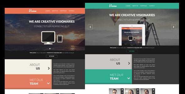 Vision - One Page Flat Concrete5 Portfolio Theme Scot Dominic