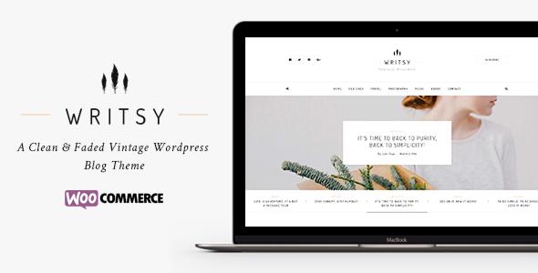 Writsy - A Clean & Faded Vintage WordPress Blog & Shop Theme Kyler Neal