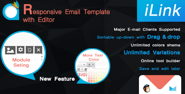 iLink-Responsive Email Template with Editor Stu Purdie