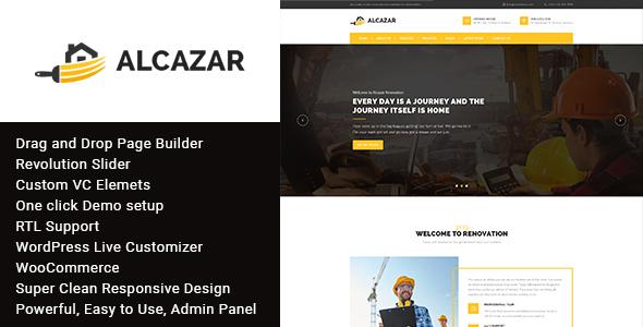 Alcazar - Construction, Renovation & Building Wordpress Theme Kemp Kelley