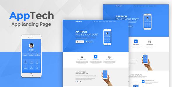 AppTech - WordPress Landing Page Theme WordPress Darrin Kouta