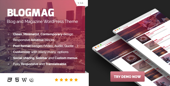BlogMag - Responsive Blog and Magazine WordPress Theme Colbert Graham