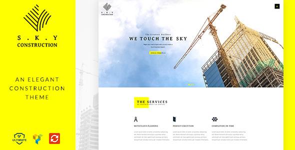 Construction - Architecture, Construction Business Theme Vin Earnest