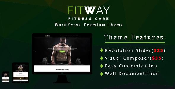 Fitway|  GYM and Fitness Centers WordPress Theme Skylar Cory