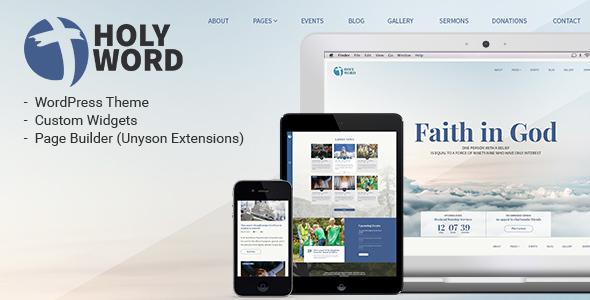 Holy Word - Church, Religion, Events WordPress Theme Orville Freddie