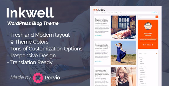 Inkwell - WordPress Blog Theme WordPress Thorley Marshall