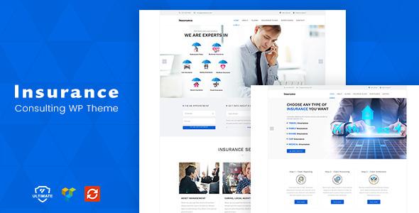 Insurance - Consulting WordPress Theme WordPress Shad Norman