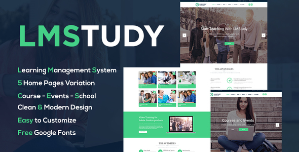 LMStudy - Course / Learning / Education LMS WooCommerce Theme Hideaki Damian