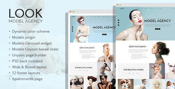 Look - fashion and model portfolio WordPress theme Taichi Quintin