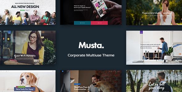 Musta - Corporate Multiuse WordPress Theme Dell Clifford