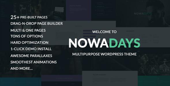 NowaDays - Multipurpose One/Multipage WordPress Theme Lindon Bentley