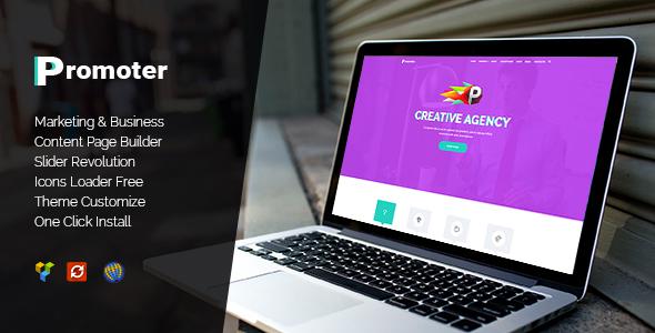 Promoter - WordPress Theme WordPress Mega Brad
