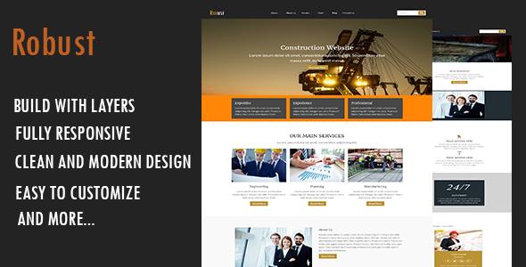 Robust-Construction WordPress Theme WordPress Tristan Merle