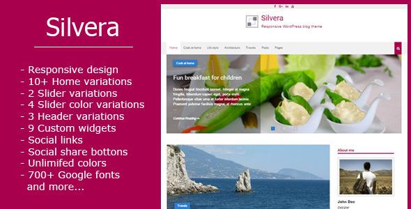 Silvera - Responsive WordPress Blog Theme Jadyn Sarkis