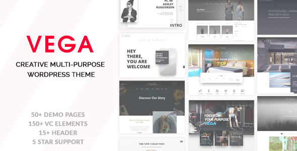 Vega - Creative Multi-Purpose WordPress Theme Sri Dillan