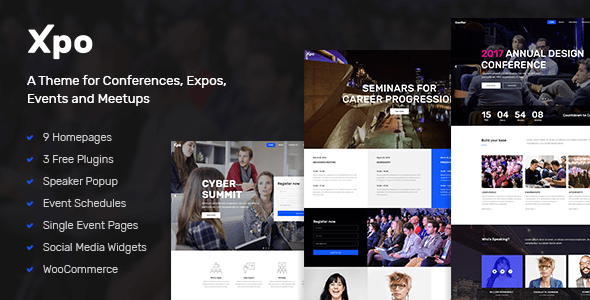 Xpo - A Theme for Conferences, Expos, Events and Meetups Braiden Hovhannes