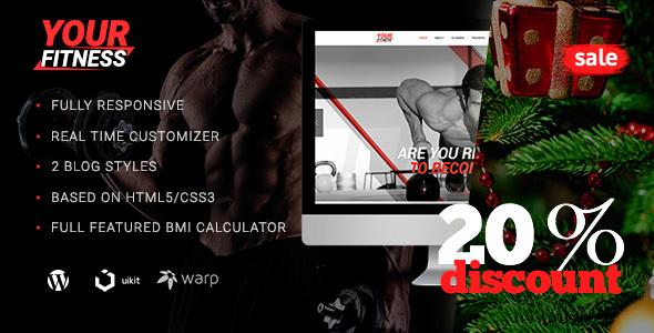 YourFitness — Sport Blog, Fitness Club, Gym WordPress Theme Keefe Ryker