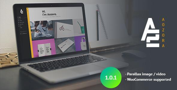 Aozora - Creative Personal & Agency WordPress Theme Brandon Bysshe