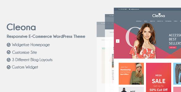 Cleona - Responsive E-Commerce WordPress Theme Barnaby Garrick