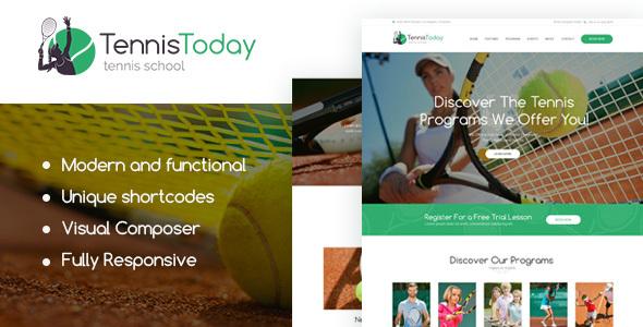 Tennis Today   Sport School & Events Theme Rickey Jeffery