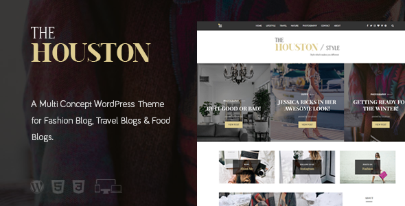 The Houston - Elegant Magazine Theme WordPress Iskandar Sho
