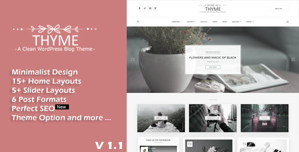 Thyme - A Responsive WordPress Blog Theme Elwood Dusty