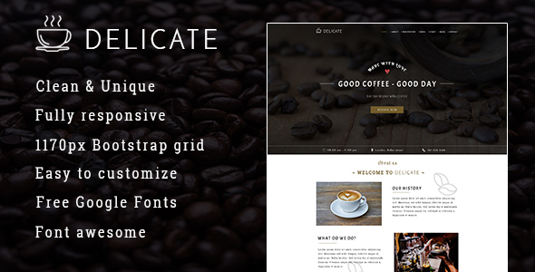 DELICATE | Coffee HTML Template            TFx Adrian Lovel