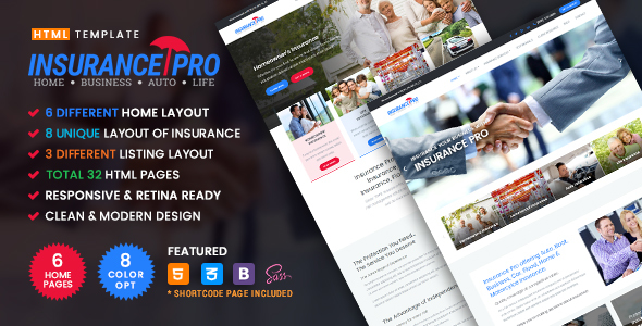 Insurance Pro - Ultimate Template for Insurance Agency            TFx Jackson Darin