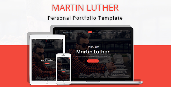 Martin Luther - Personal Portfolio Template            TFx Daley Astor